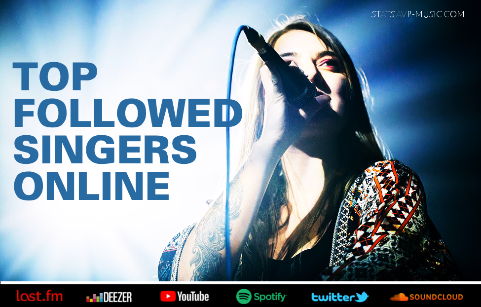 Top followed Singers & Vocalists on Digital Music Streaming & Social Media